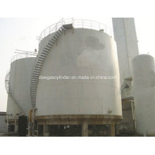 Lox, Lin, Lar, LNG, Lco2 Vertical Type Cryogenic Spherical Tank with 300-3000m3 Capacity