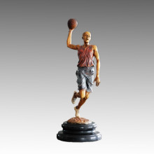 Statue sportive Joueur de basket-ball Shoot Bronze Sculpture, Milo TPE-777 (S)