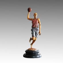 Спортивная статуя Баскетболист Стреляйте Бронзовая скульптура, Мило TPE-777 (S)