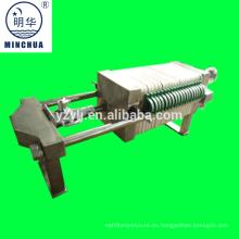 Máquina de filtro de prensa de acero inoxidable 320