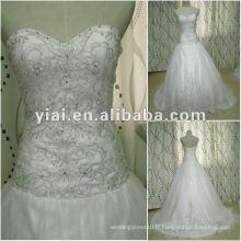 JJ2648 Drop Shipping Ball Gown broderie blanc designer Robe de mariée en mariée 2012