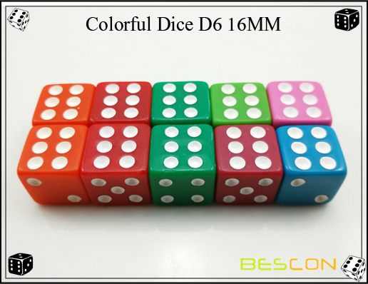 Colorful Dice D6 16MM