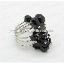 Black Onyx chip stone wrap rings