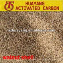 2014 Huayang nouveau type différentes tailles média de coquille de noix pour une bonne résistance à la pression