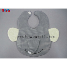 "13""Unique Baby Gifts Plush Grey Elephant Baby Bibs"