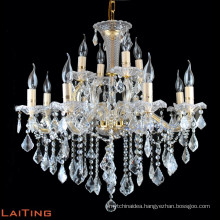 Hotel glass chandelier crystal big empire crystal candle chandelier from manufacturer 80022