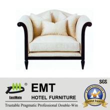 Sofá de almofada de ponta superior Sofá único para hotel (EMT-SF28)