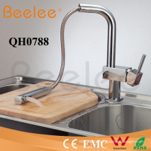 China Sanitary Ware Chromed Brass Cold and Hot Water Sink Pull out Kitchen Faucet