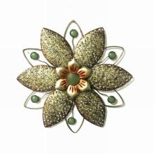 Metall geformte antike Blumen-Wand-Dekoration