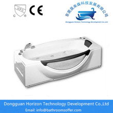 Hot Sale for for Square jacuzzi Bathtub Freestanding whirlpool modern soaking tub export to Spain Exporter