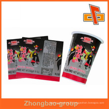 Soft PVC bottle heat shrink sleeves wrapping for the paste packing with factory price