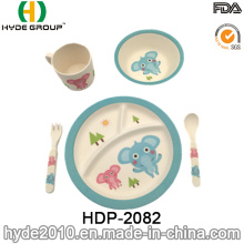 Animal Design Baby Bamboo Fiber Tableware Sets (HDP-2082)