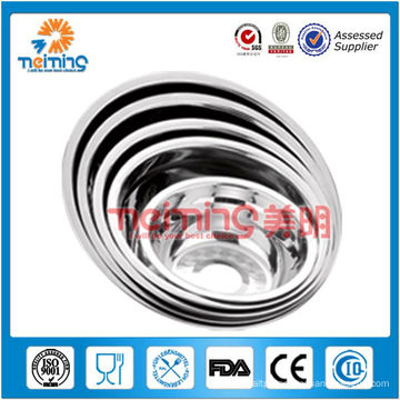 wholesale price round stainless steel soup plate