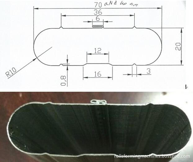 interloacked oval pipe