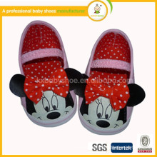 2015 wholesale hot selling lovely mickey handmade baby moccasins shoes