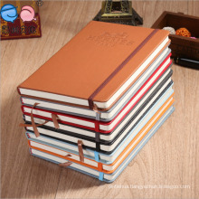 2016 New Design PU Noetbook Cover with Elastic Band (PU-A5-03)