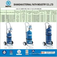 High Pressure Medical Aluminum Alloy Oxygen Gas Cylinder