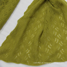 2016 Mongólia lã merino lã xale de lã merino com tecido de tecido de tecido de ilhó