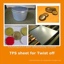 JIS standard Tin kostenlos aus Stahlblech für Blechdose endet