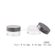 Hochwertiges Mini-Plastikgefäß für lose Pulver leeres Plastikkosmetikglas mit Sichter