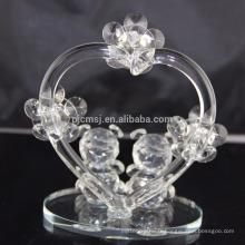Vente chaude meilleure qualité belle nounours en cristal pour la décoration