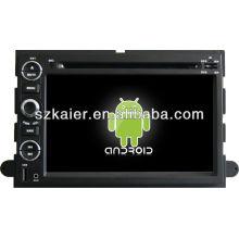 Reprodutor de DVD do carro do sistema de Android para a expedição de FORD com GPS, Bluetooth, 3G, iPod, jogos, zona dupla, controle de volante