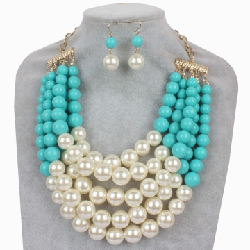 Artificial Pearl Earrings and Necklace Set Cheap