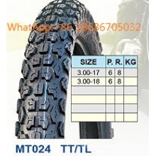 Motorcycle Tyre/Motorcycle Tire 3.00 -17 3.00-18 Hot Sale Pattern