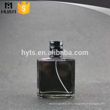 Bouteille de parfum de verre noir de haute qualité de 100ml