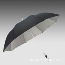 Promotional Advertising Anti-UV Aluminum Golf Umbrellas w/ Safety Spring Frame, Light, Strong, Cheap