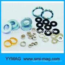 Anillo de neodimio sinterizado anillos orientados radialmente