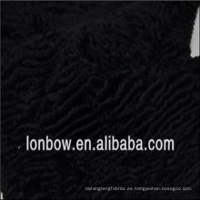Tela al por mayor de alta calidad del algodón negro de la piel viscosa de la mezcla de la mezcla para la capa