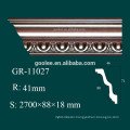 High Density White PU Crown Moulding for Ceiling