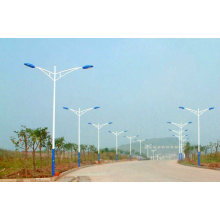 Dual Arm Double Arm Street Light Steel Pole