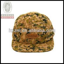 custom flat square brim 5-Panel floral snapback hat&cap