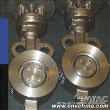 Válvula de borboleta excêntrica dupla de Cl150 / 300/600 Wcb / CF8 / CF8m