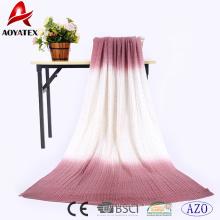 Couverture de jet de bébé en tricot 100% acrylique