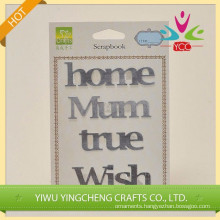 Decorative metal letters/ metal sticker for crafts