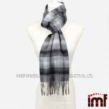 Tartan Plaid Stripe Long Shawl Cashmere