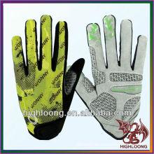 Highloong Ajustable al por mayor M tamaño microfibra reflexiva guantes de ciclismo