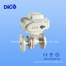 Stainless Steel Floating Ball Valve with Electric Actuator