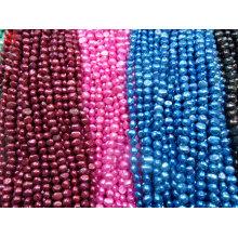 8-9mm AA Multi-Color Nugget Süßwasser Perle Stränge