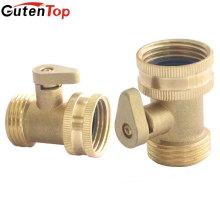 Válvula de fechamento de mangueira de água de latão sólido Gutentop