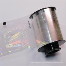 Película de base de laminación de tarjetas antifalsificación de la serie personalizada