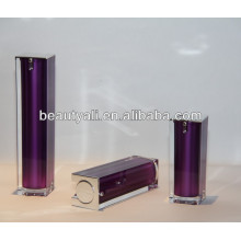 Luxury Square Cosmetics Acrylic Airless Pump Container 15ml 30ml 40ml 50ml 80ml 100ml 120ml
