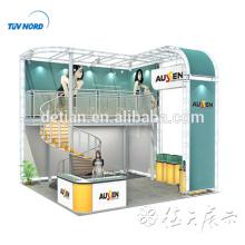 Detian Offer popular 3x3 aluminum truss double deck exhibition booth