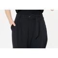 Womens Casual Suit Pants with Blet
