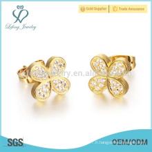 Boucles d'oreilles papillons en or pour créations féminines, bijoux en or indien
