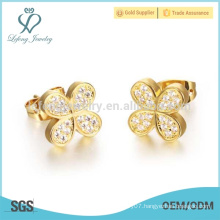 Gold butterfly earrings for women designs, indian gold earrings jewelry