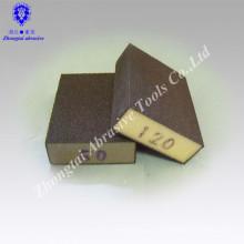 Aluminiumoxid Mitteldichte Schleifschwamm 100 * 70 * 25mm in Körnung P60-240 mit Einzelverpackung